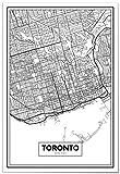 Panorama Poster Karte von Toronto 21x30 cm - Gedruckt auf