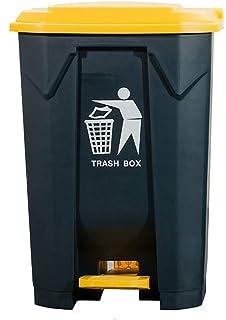 WOAINI Poubelle extérieure à pédale épaissie, Poubelle/poubelles en Plastique à Poser carrées, Poubelle Grande pour Restau...