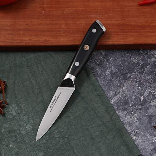 Cuchillos de Cocina japoneses 8 Pulgadas Chef Juego de Cuchillos de Acero al Carbono de Alta 1.4116 Santoku Pesca de Sharp cocinar Cuchillo Hecho a Mano (Color : 3.5 Inch Fruit Knife)