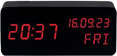 LED Reloj Despertador ElectróNico Digital Reloj De Alarma Control De Voz Movimiento Silencioso VisualizacióN De La