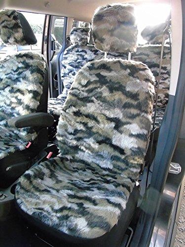 R - Juego completo de fundas de asiento para coche de Kia Picante, Tiger 1 de piel sintética
