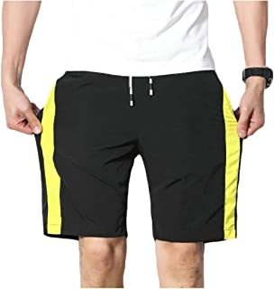 RkBaoye Mens Waist Tie Baggy Splice Trim-Fit Training Running Trousers