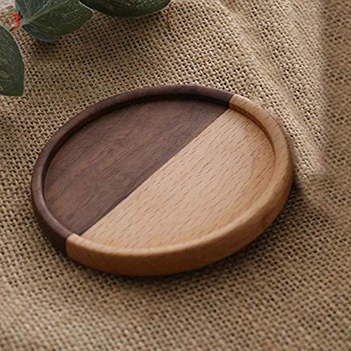 JIAYAN Set de table rond en rotin - Dessous de verre - Tapis de table de cuisine - Dessous de plat - Tapis de bol - Résistant à la chaleur - Sets de table ronds faits à la main