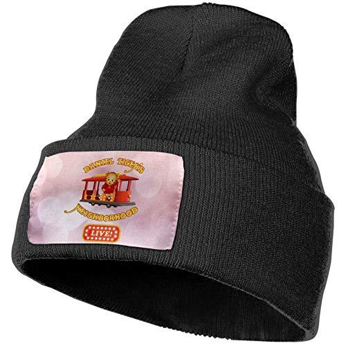 Daniel Tiger's Neighborhood Winter Beanie Hip Hop Hat Crochet Hair Ball Knitted Hat Black