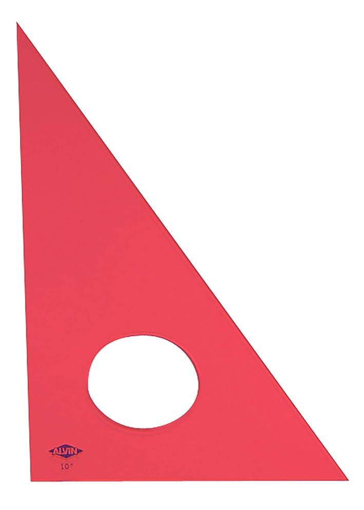 サイドボード詐欺ディーラーAlvin 130F-10 10 in. Fluorescent Professional Acrylic Triangle 30°-60°