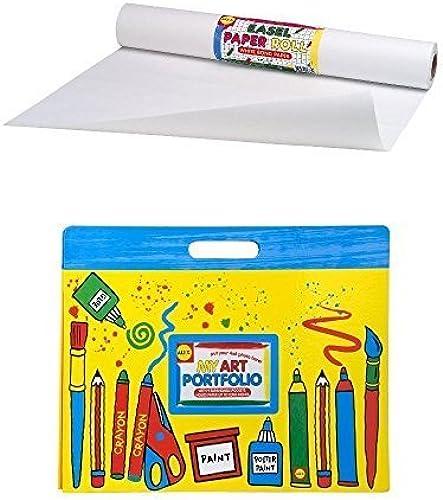Alex Art Portfolio and Paper Roll (18x75') blanc Bundle by Bundles of Fun
