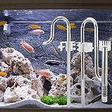 xiangxin Tubo de Entrada de Acuario, Tubo Skimmer Duradero, fácil de Limpiar, Larga Vida útil, óxido Delicado y Exquisito para Mascotas domésticas, Mascotas,(12mm Oil Film Old)