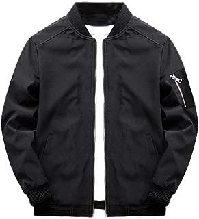 Men's Lightweight Softshell Coat Sportwear Zipper Windbreaker Flight Bomber Jacket