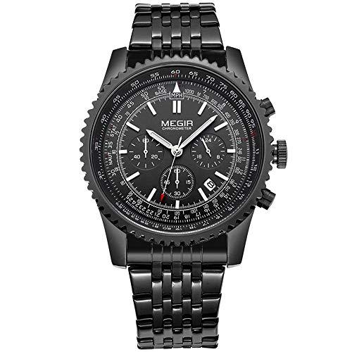 JJDB Herren-Armbanduhr, digital, automatisch, für Herren, Edelstahl, Quarzuhrwerk, Top Markenuhr a