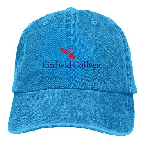 Linfield-College Unisex Soft Casquette Hat Vintage Adjustable Baseball Cap Blue