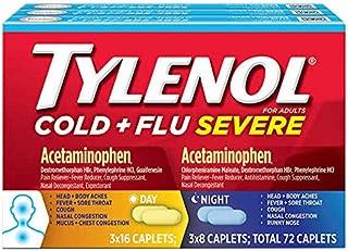 Tylenol Cold + Flu Severe Day & Night Caplets, 72 Caplets