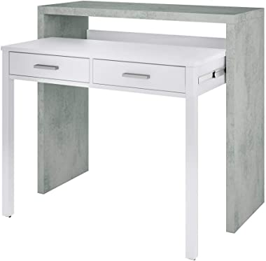 Salone Negozio Online Kit SCRIVANIA SALVASPAZIO Estensibile 36X99X88H Bianco/Cemento