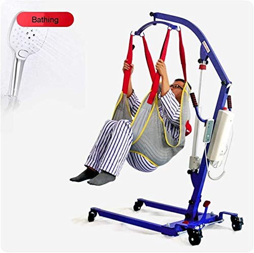 TINWG Tragbare elektrische Patient Voll Body Lift Sling mit Padded Vest All-Inclusive Hüfte, Split Leg Entwurf for Ältere Behinderte Verletzt Gehen Stehen Aids 518