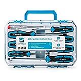 SolidWork Juego de destornilladores de 8 piezas en un robusto maletín de herramientas - Juego de destornilladores magnéticos de cromo-vanadio de alta calidad con detector de tensión