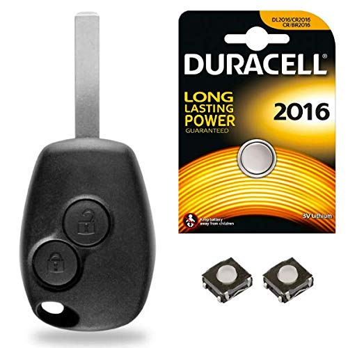 Plip Coque Clé Dacia Sandero Duster Lodgy Logan Dokker +Lame + 2 Switch + Pile CR2016 - Kit iRace Keys®