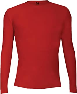 Red Youth Large Compression Long Sleeve