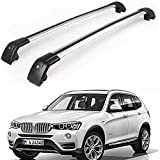 MotorFansClub Roof Rack Cross Bar Fit for Compatible with BMW X3 F25 2011-2018 Crossbars Baggage Luggage Cargo Top Roof Rail