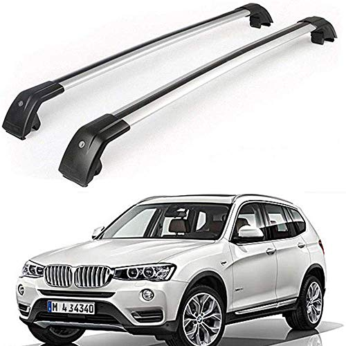 MotorFansClub Roof Rack Cross Bar Fit for Compatible with BMW X3 F25 2011-2018 Baggage Luggage Crossbar