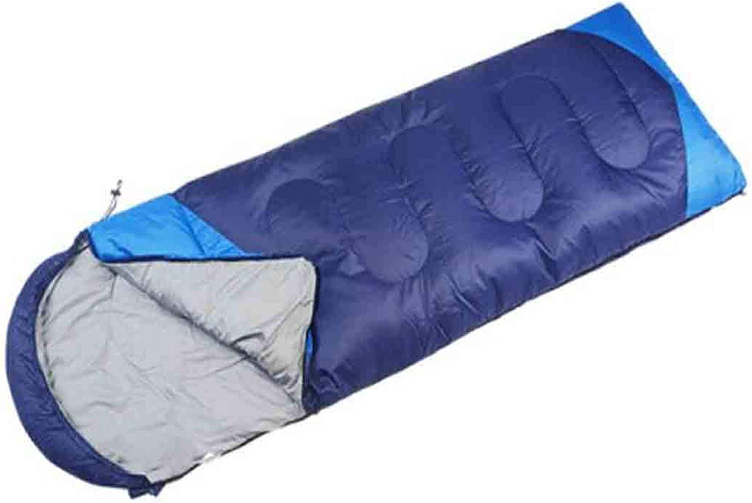 8haowenju Sleeping Bag Four Seasons, Wild Camping Single Sleeping Bag,Single, Dark bluee. Size  86.6  29.5 (inch)