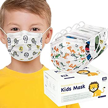 50-Pieces Dxlover Disposable 3 Ply Breathable Face Masks