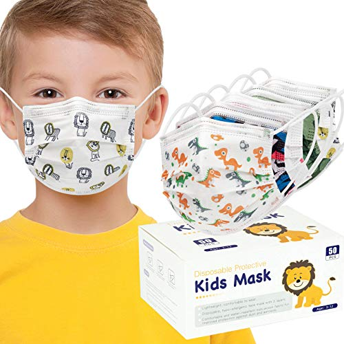 Child Face Masks 3 Layers (Pack of 50 PCS)