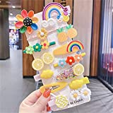 LANHUAN New Baby Princess Color Color Color Color Pelo Accesorios de 14 Piezas, Linda Flor Animal Horquilla (Color : D)
