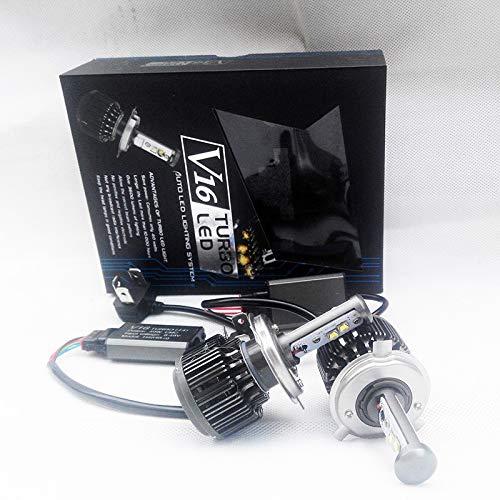 one pair V16 H4 Hi/lo 40w 3600LM Turbo LED Automobile turbo headlights H1 H3 H7 880 9005 9006 H11 30W turbo led lightings 6000K (H13)