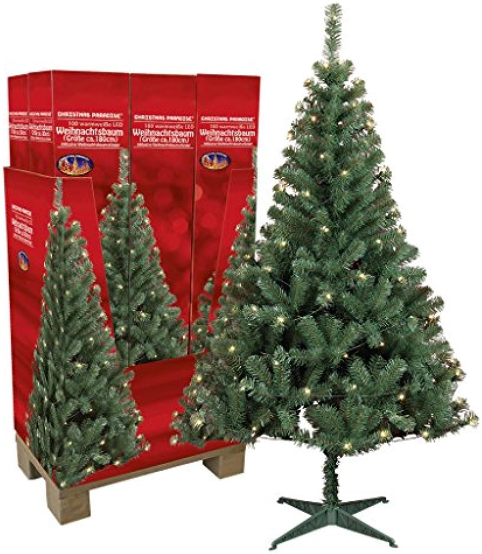 Künstlicher Weihnachtsbaum mit Beleuchtung 180 cm hoch Tannenbaum künstlich Christbaum mit Stnder