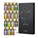PHATOIL Essential Oils - TOP 15 100% Pure Premium Quality Essential Oils Gift Set - 15 Pack/5ml for Diffuser Massage Aromatherapy Perfect Gifts
