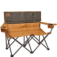 BUILT FOR PLAY: (Updated 2019 Model) Binge watch the outdoors and chill. Cuddling up around the campfire has never been so easy. Built for 2 with adjustable arms and dual beverage holders make this chair perfect for an outdoor cuddle puddle. FEATURES...