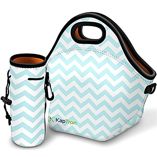 Kaptron Lunch Bag, Thick insulated Lunch Tote Lunch Box Bag with Shoulder Straps - Cover for adults, women, girls, school children - Suitable for Travel, Picnic, Office