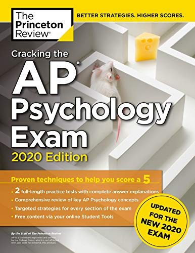 Cracking the AP Psychology Exam, 2020 Edition: Practice Tests & Prep for...