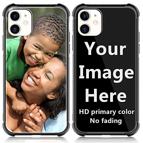 SHUMEI Custom Case for Apple iPhone 11 Glass Cover 6.1 inch Anti-Scratch Soft TPU Personalized Photo Make Your Own Picture Phone Cases