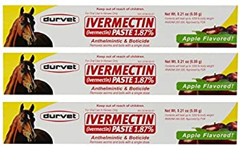 Durvet Ivermectin Paste 1.87% Removes worms and bots - 3 Pack