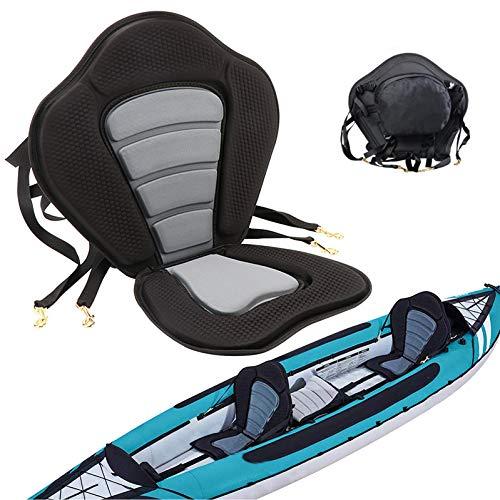Fuzbaxy Marine Kayak Seat Deluxe Canoe Seat with Detachable Back Storage Bag (1pack)