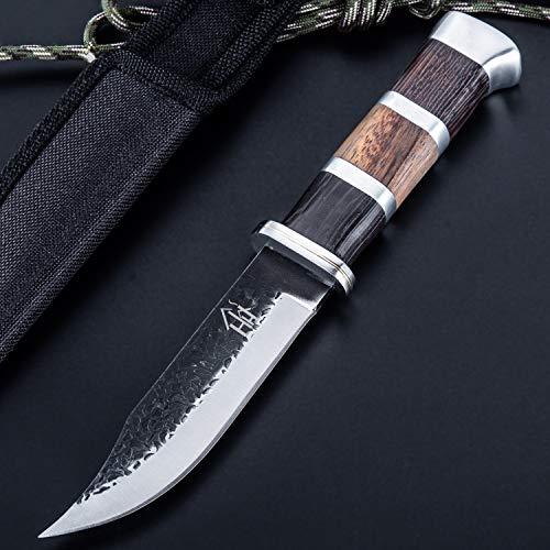 Hobby Hut HH-353 ,Jagdmesser mit Scheide, jagdmesser feststehende klinge (Brown)