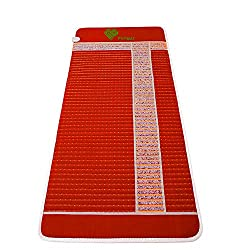 """PHYMAT Amethyst Far Infrared Heating Pad - EMF Free Amethyst Heating Mat - Infrared Mat - Crystal Radiant Heat,Natural Ion,Adjustable Temp Settings,Overheat Protection(70""""x31"""")"""
