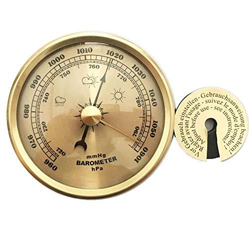 ZYD Thermometer Hygrometer Barometer Analog Feuchtigkeit Wandbehang Metall Tragbare Wetterstation Temperatur Atmosphärischer Für Privatanwender