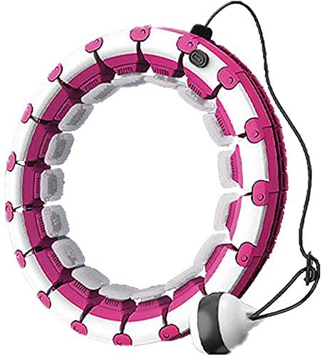 Hula Hoop Smart Ajustable Tamaño Desmontable Aptitud Para El Hogar Hula Hoop Eficiente Quemagrasas Equipo De Ejercicios 360 ° Masaje Anillo Deportivo Aptitud Entrenamiento Para Adelgazar Aros,Rojo