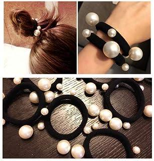 Autumn Water 2Pcs/Lot Fashion Pearl Elastic Hair Rubber Band Hair Accessories for Women Girls Ponytail Holder Hair Ties Headdress Headbands