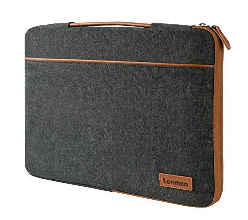 LONMEN 14 Zoll Laptop Sleeve Hülle Tasche Laptophülle mit Handgriff Kompatibel mit 14