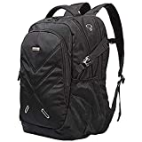 Ronyes Backpack for Laptops Up To 18.4 Inch Hiking Backpack Water Resistant Travel Computer Backpack Shockproof Laptop Backpack with USB Charging Port and Waterproof Rain Cover (Black)