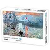 WENJUN Gran Juego de Puzzle Ilustraciones - Impresión, Sol Naciente for Adultos Rompecabezas 1000 Piezas de 42.5cm * 30cm