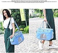 通気性の袋のために小中動物、ハンドバッグを運ぶ猫アウトドアショルダーキャリアが猫キャリア犬トラベルバッグポータブルフロントウィンドウ用品 ペットケージ XIEJING (Color : Blue, Size : S)