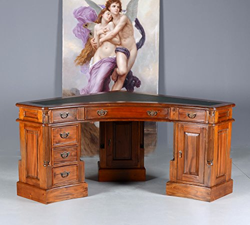 Unbekannt Chefbüro Schreibtisch Kolonialstil Eckschreibtisch England Corner Desk mar097 Palazzo Exclusiv