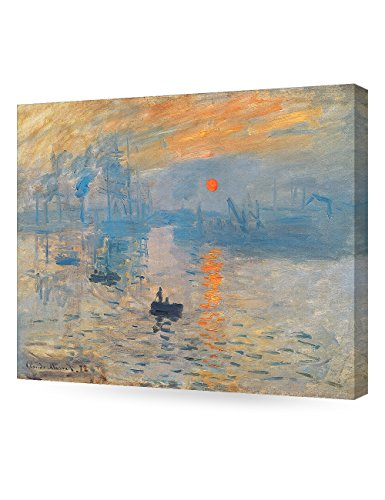 DECORARTS - Impression Sunrise, Claude Monet Art Reproduction. Giclee Canvas Prints Wall Art for