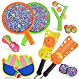 FUN LITTLE TOYS Sports Outdoor Games Set with Scoop Ball Toss, Toss and Catch Games, Tennis Racket Sports Toy,...