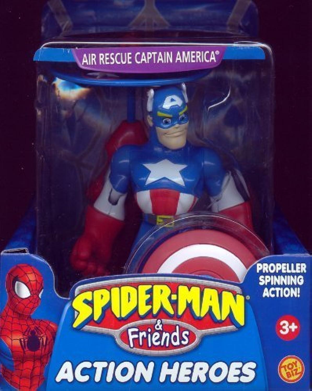 distribución global Spider-Man & Friends Air Rescue Captain America Acción Acción Acción Heroes Figura by Prannoi  tienda en linea