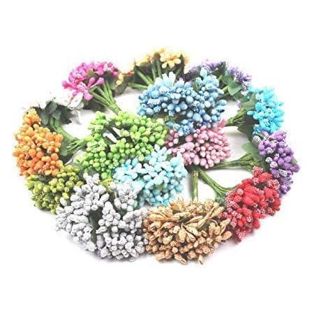 Delush Design Artificial Flowers (Multicolour, 144 Piece)