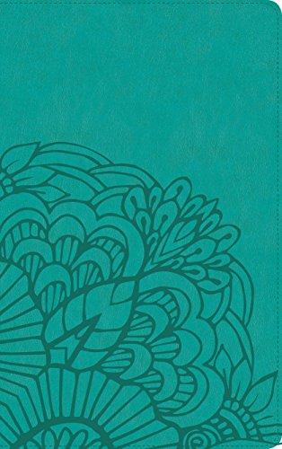 RVR 1960 Biblia Ultrafina, aqua símil piel con índice